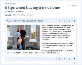 Tips to buying a new home